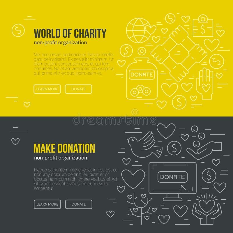 Bannière de charité illustration stock
