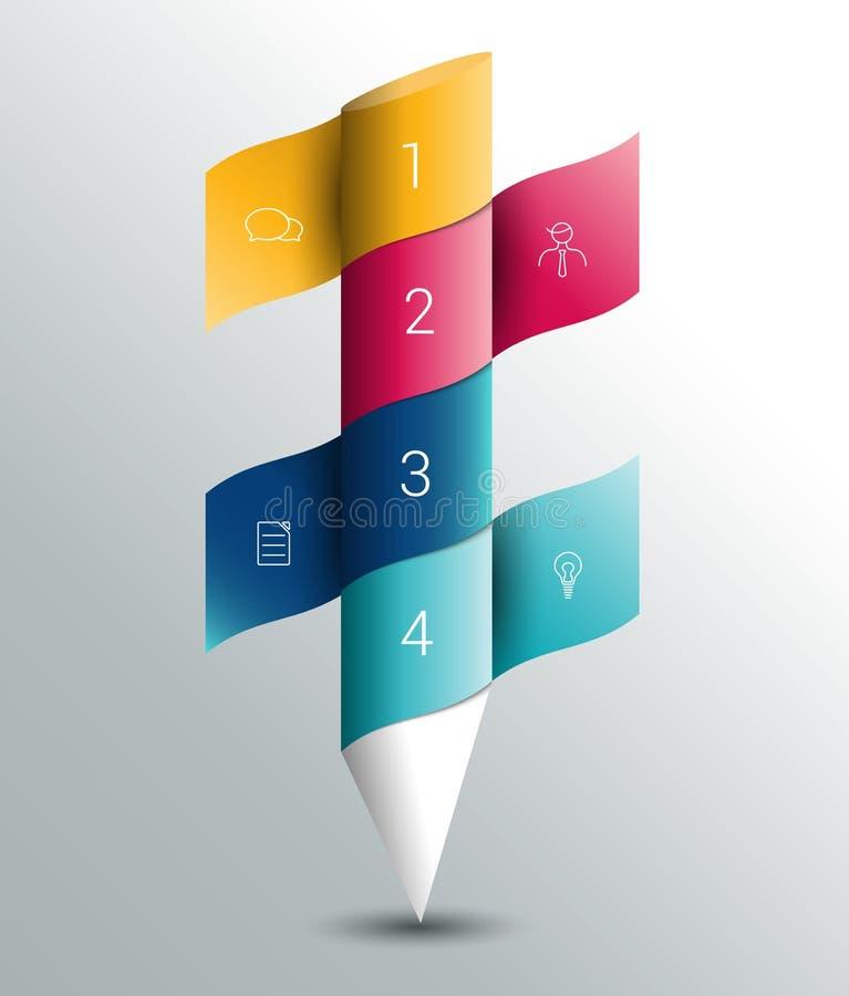 Bannière de colummn d'Infographics, calibre illustration stock