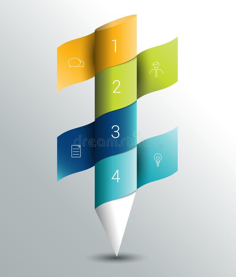 Bannière de colummn d'Infographics, calibre illustration libre de droits