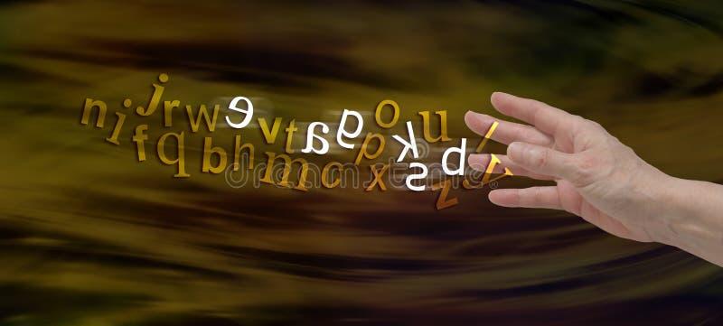 Bannière de compréhension de site Web de dyslexie photos libres de droits