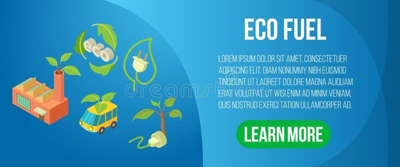 Bannière de concept de carburant d'Eco, style isométrique illustration libre de droits