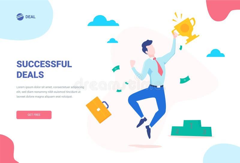 Bannière de concept de succès Peut employer pour la bannière de Web, infographics, images de héros L'illustration isométrique pla illustration libre de droits