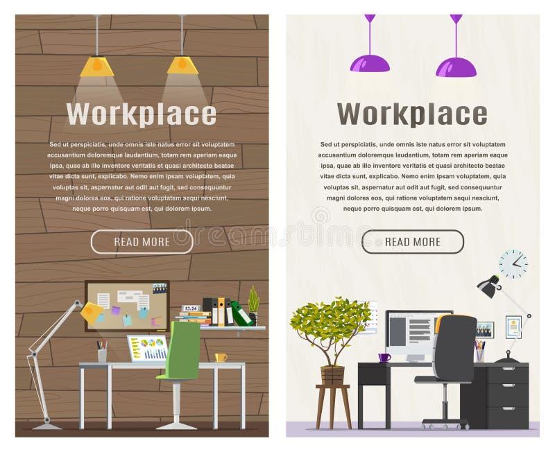 Bannière de deux verticales pour le web design illustration stock