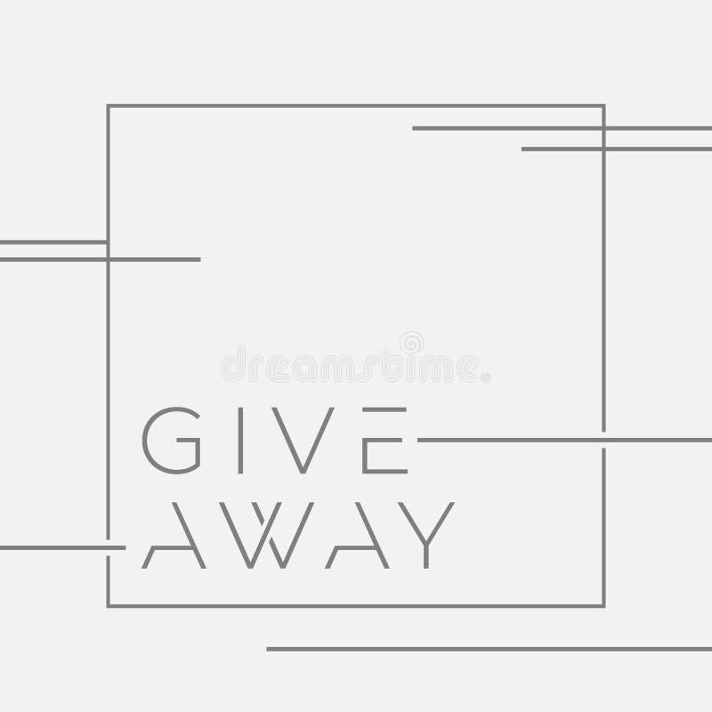 Bannière de DON pour des concours dans le media social Dirigez l'illustration avec les lignes graphiques sur le fond d'isolement  illustration libre de droits