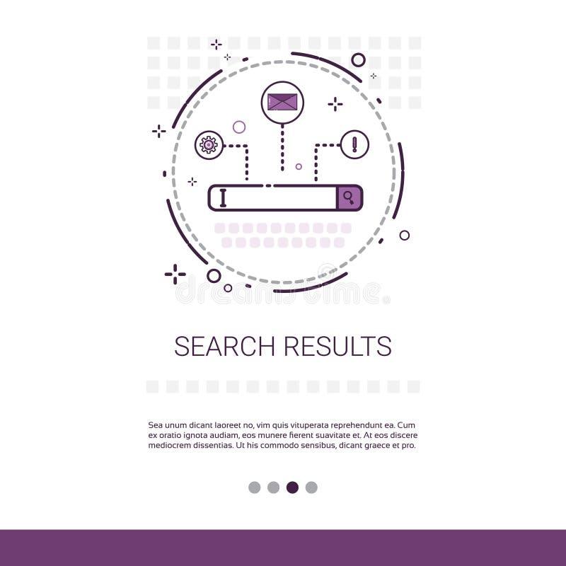 Bannière de données de Web de résultat de recherche avec l'espace de copie illustration de vecteur
