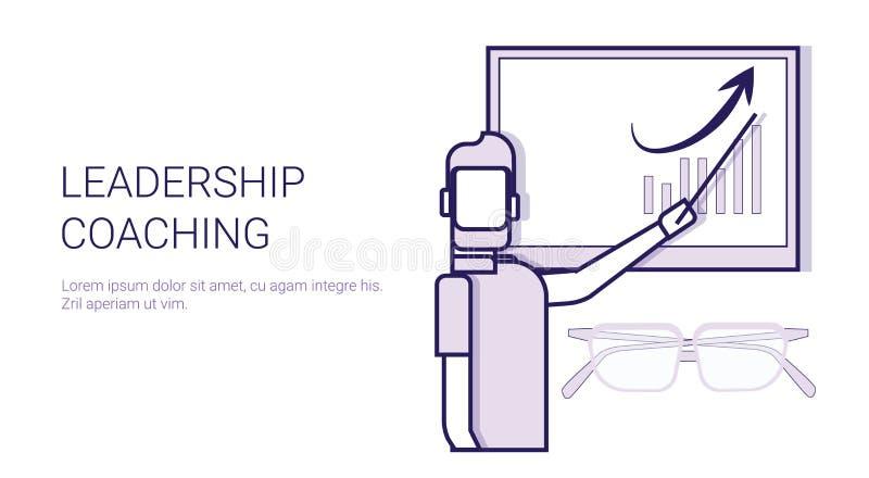 Bannière de entraînement de Web de calibre de concept de formations de mentor de direction avec l'espace de copie illustration libre de droits