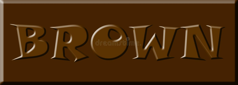 Bannière de fond d'image de conception d'illustration de mot de police de lettre de couleur de Brown illustration libre de droits
