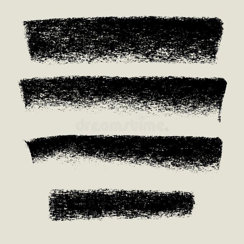 Bannière de fond de texture de charbon de bois, fond grunge illustration stock