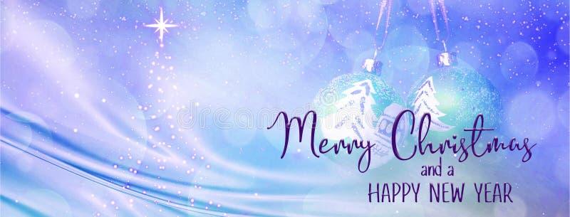 Bannière de fond de vacances de Noël et de nouvelle année images stock