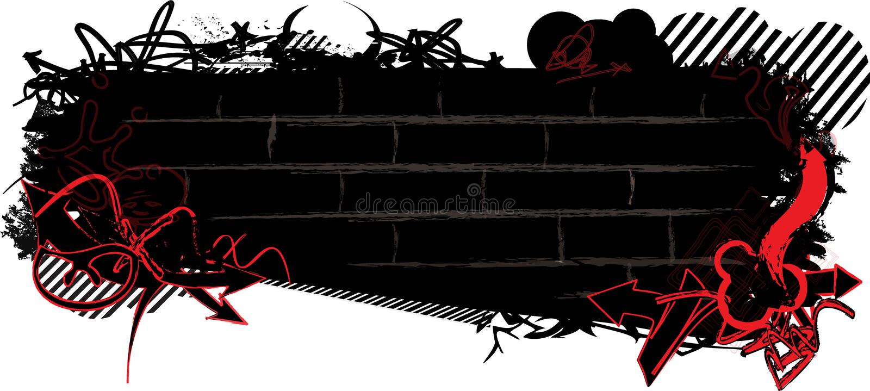 Bannière de graffiti photo stock