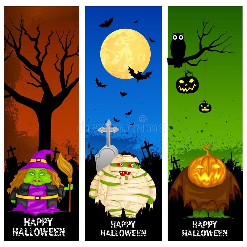 Bannière de Halloween illustration stock