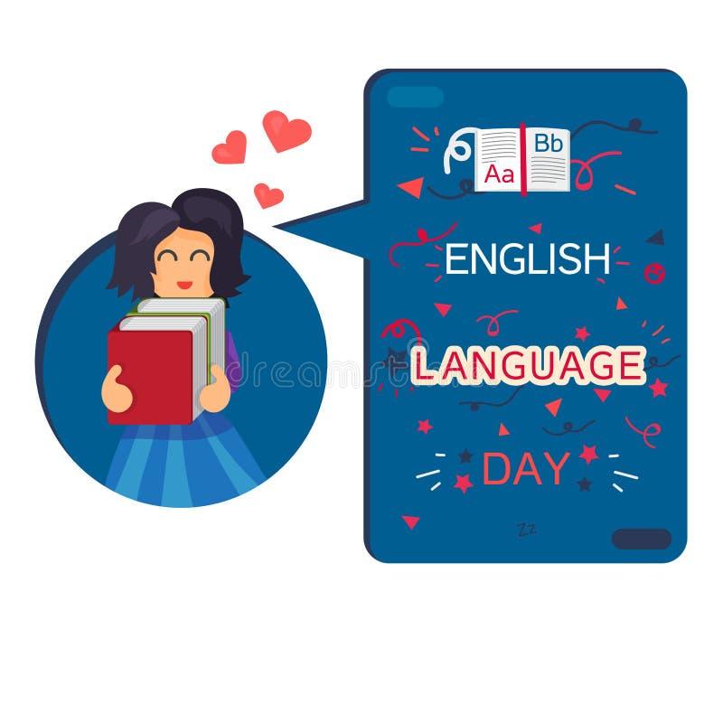 Bannière de jour d'anglais illustration stock
