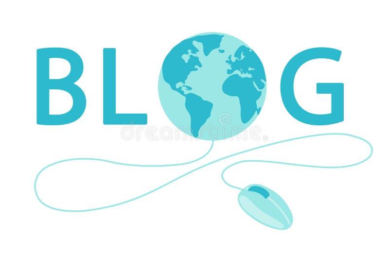 Bannière de jour de Blogger du monde illustration stock