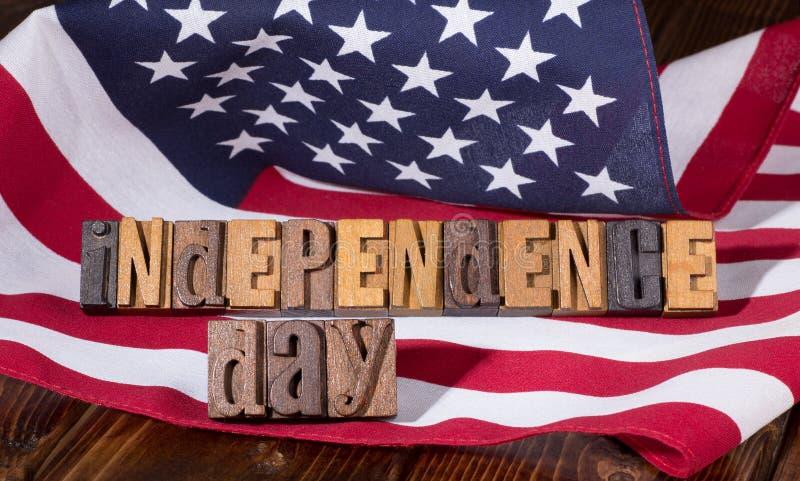 Bannière de Jour de la Déclaration d'Indépendance photos stock