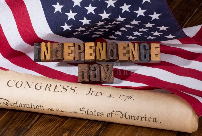 Bannière de Jour de la Déclaration d'Indépendance image libre de droits