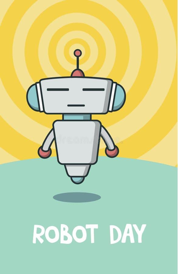 Bannière de jour de robot illustration de vecteur