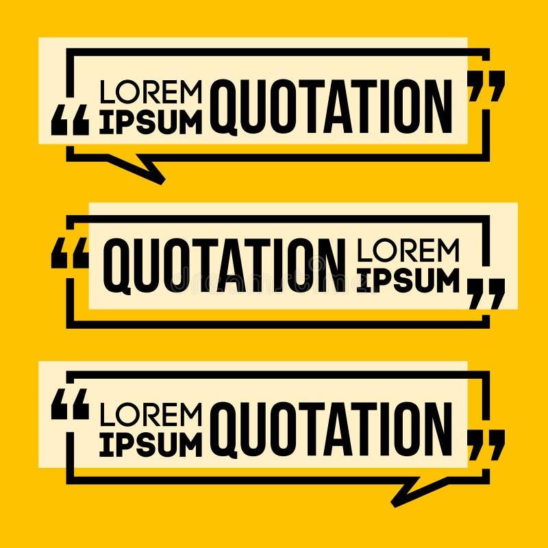 Bannière de la parole de citation illustration de vecteur