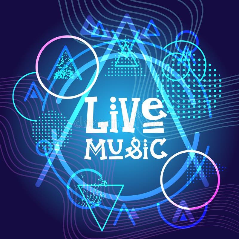 Bannière de Live Music Concert Poster Festival illustration de vecteur