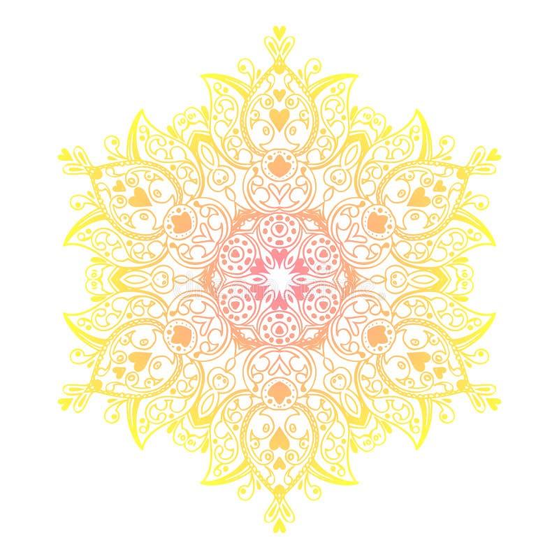Bannière de mandala, style indien illustration libre de droits