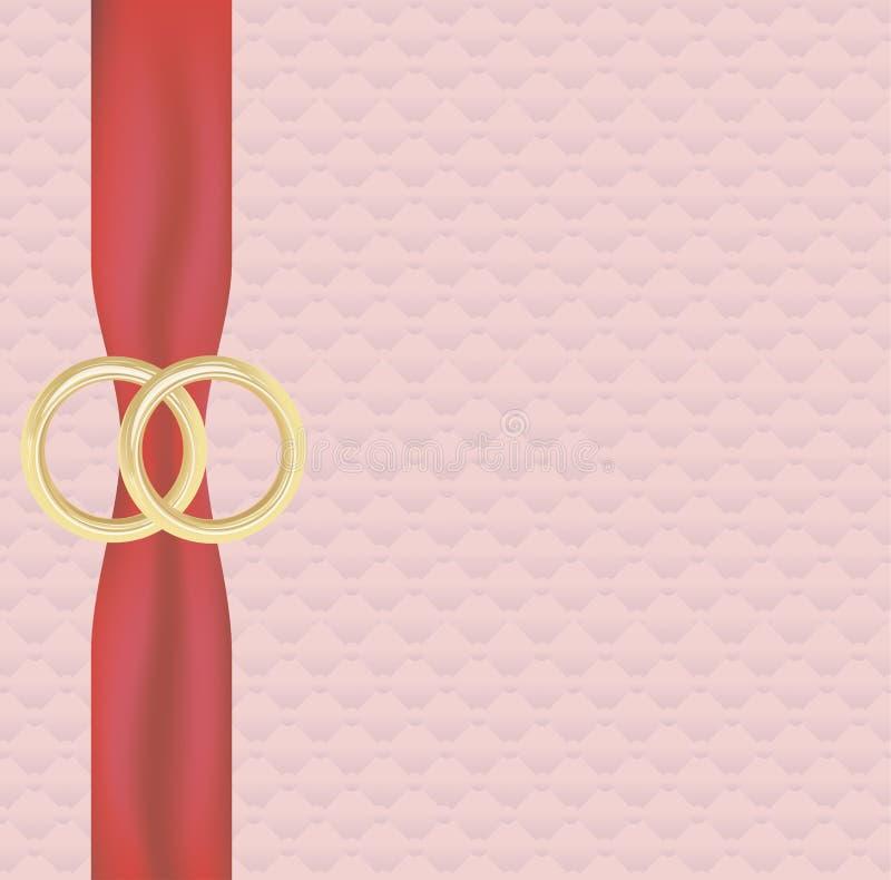 Bannière de mariage illustration de vecteur