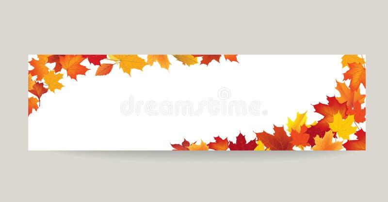 Bannière de nature de feuille de chute Autumn Leaves Background illustration de vecteur