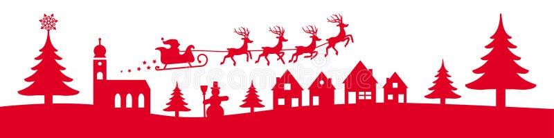 Bannière de Noël d'hiver illustration libre de droits