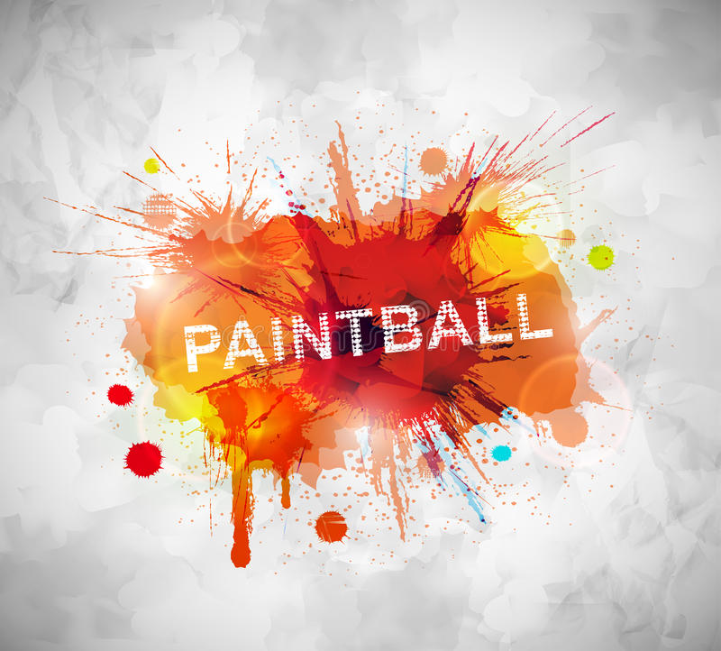 Bannière de Paintball illustration de vecteur