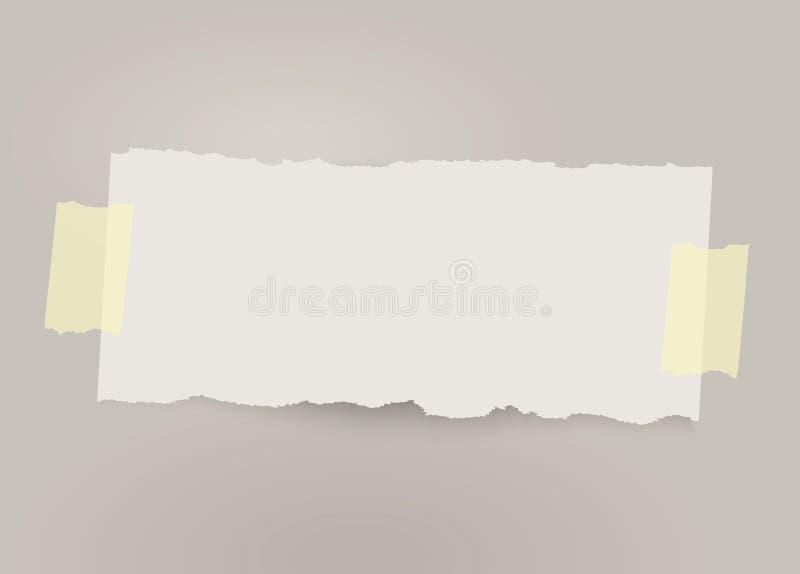 Bannière de papier déchirée par vecteur avec le ruban adhésif - Le fichier du vecteur illustration libre de droits