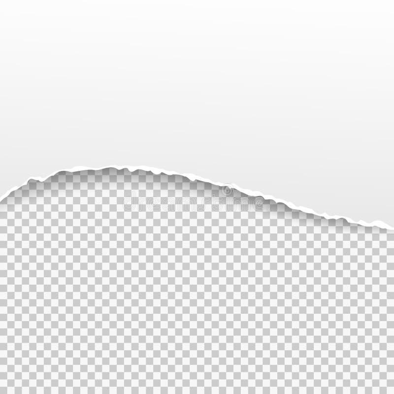 Bannière de papier déchirée sur le fond transparent Illustration de vecteur illustration de vecteur