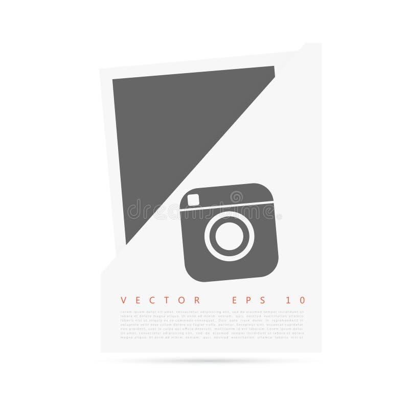 Bannière de papier d'origami blanc de vecteur pour vous illustration stock