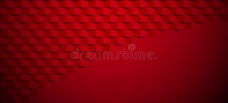 Bannière de papier texturisée géométrique de résumé rouge illustration de vecteur
