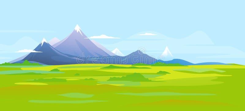 Bannière de paysage de montagne illustration stock