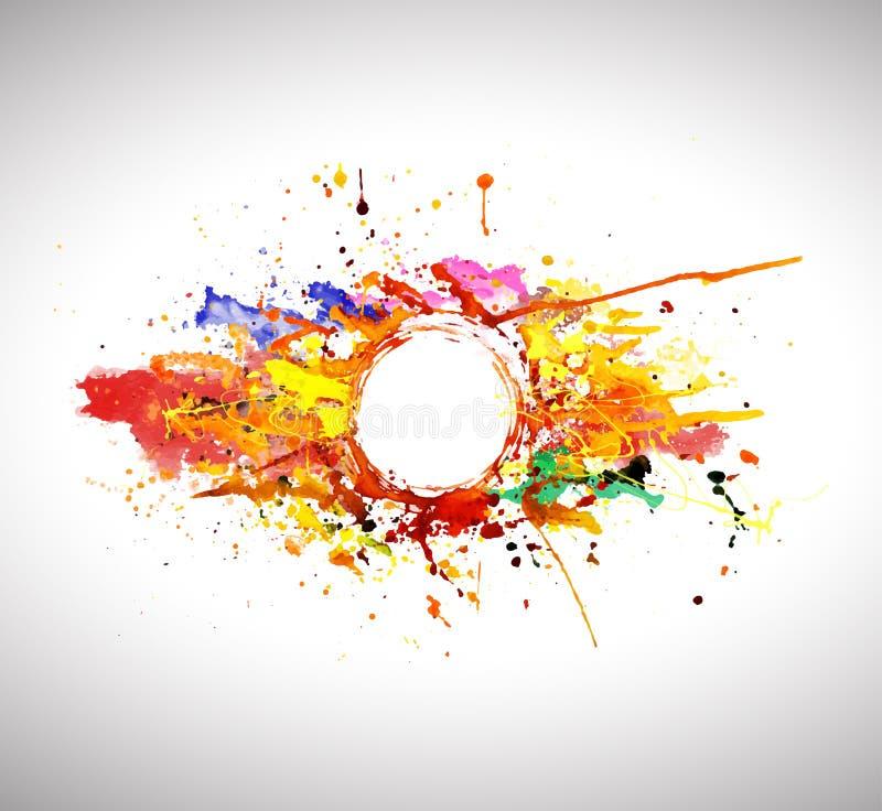 Bannière de peinture de jet abstraite illustration de vecteur