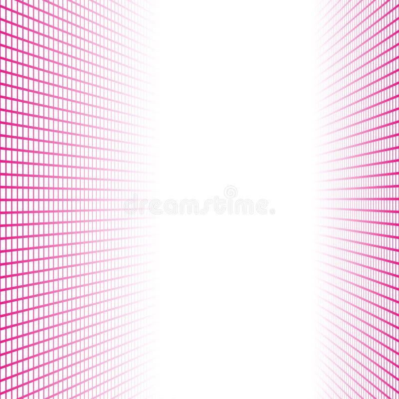 Bannière de perspective faite de tuiles roses de places illustration libre de droits
