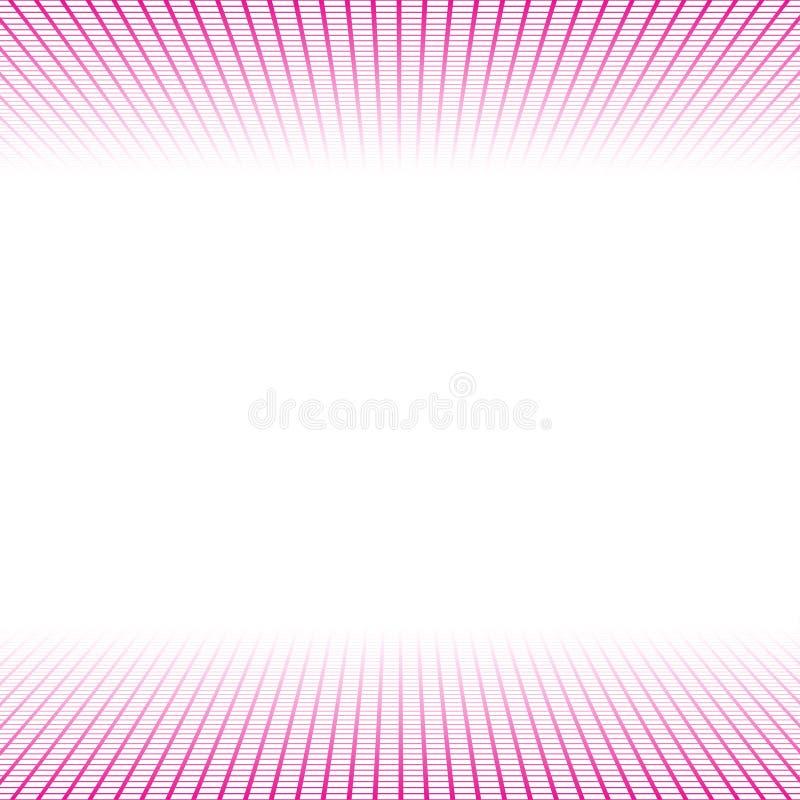 Bannière de perspective faite de tuiles roses de places illustration de vecteur