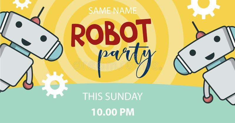 Bannière de promo de partie de robot illustration libre de droits