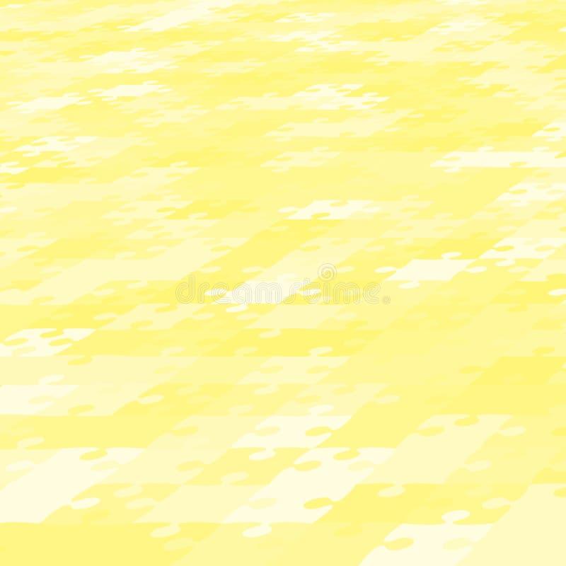 Bannière de puzzle de puzzle de jaune de fond de perspective illustration stock