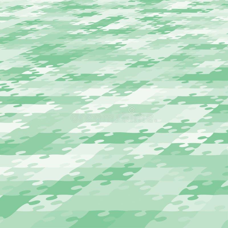 Bannière de puzzle de puzzle de vert de fond de perspective illustration stock