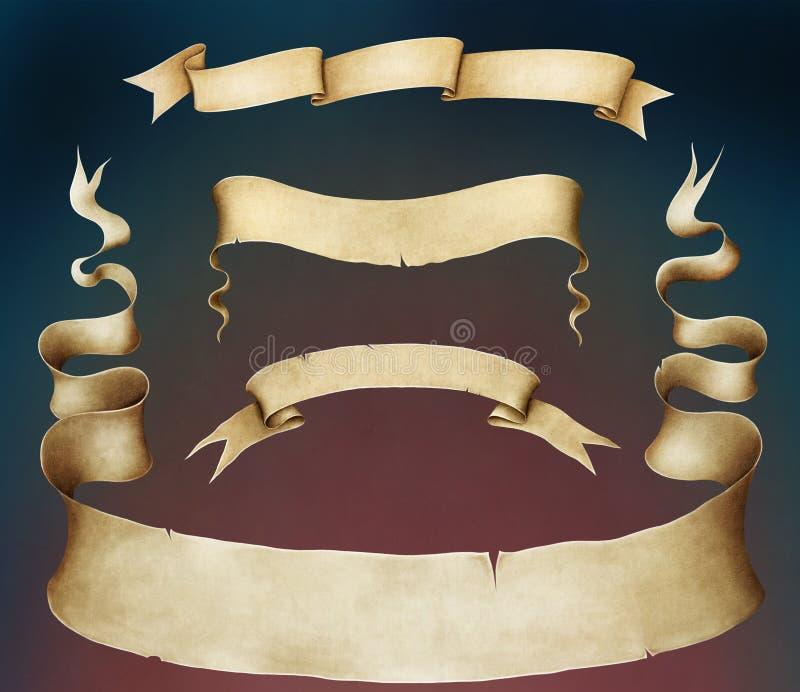 Bannière de quatre vintages. illustration libre de droits