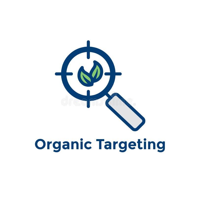 Bannière de recherche et de SEO Web Header Hero Image avec la croissance organique, illustration libre de droits