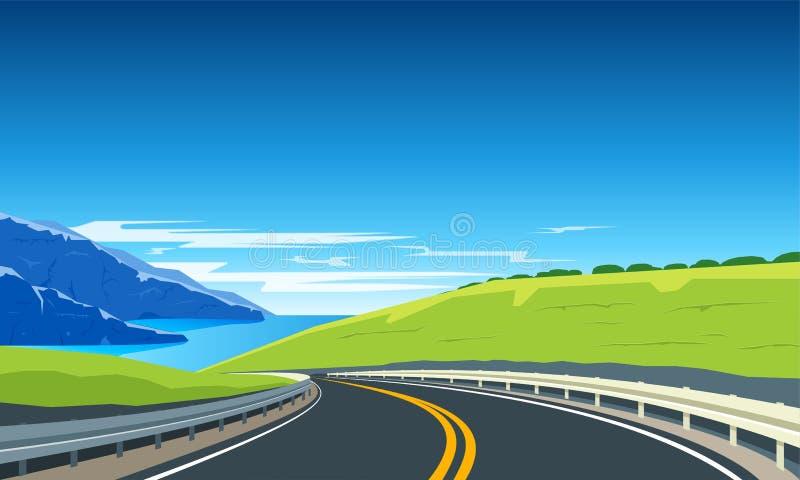 Bannière de rotation de route illustration de vecteur