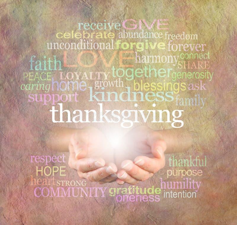 Bannière de site Web de nuage de Word de thanksgiving photos libres de droits