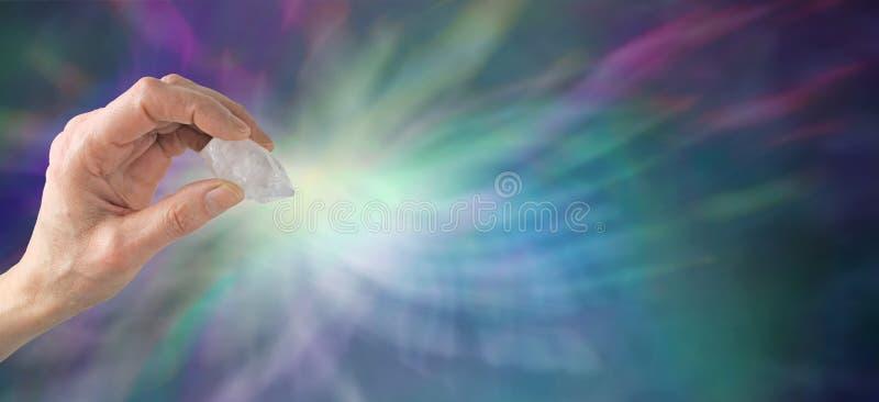 Bannière de site Web de thérapie par les cristaux photographie stock libre de droits