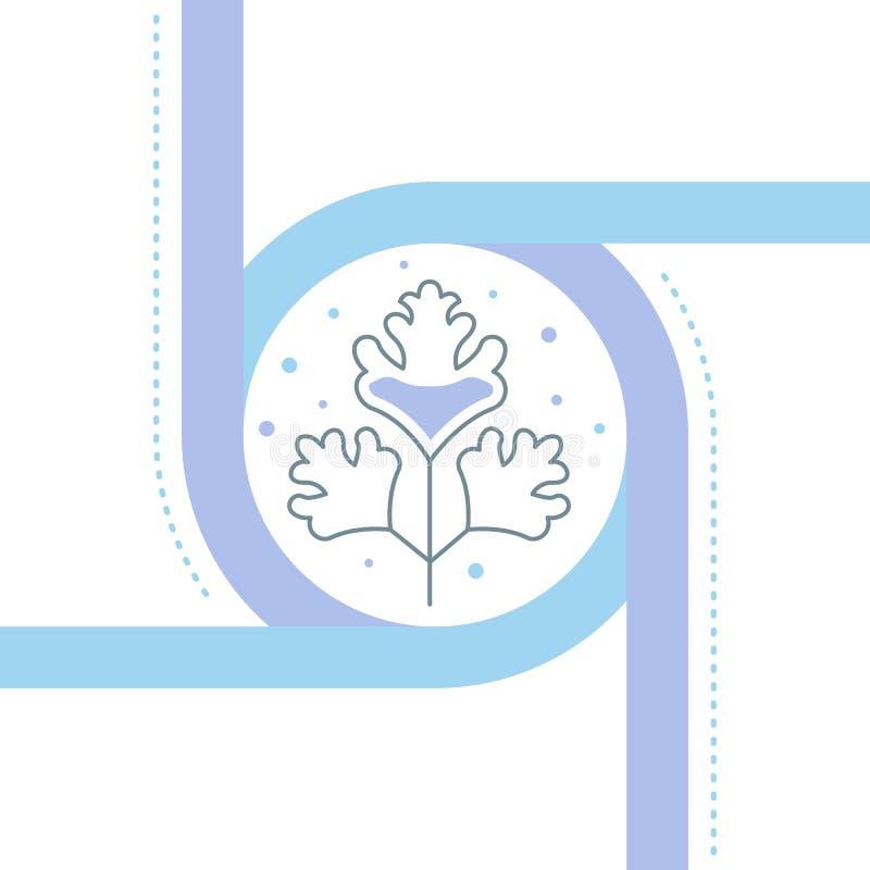Bannière de site Web et page d'atterrissage de Cilantro illustration stock
