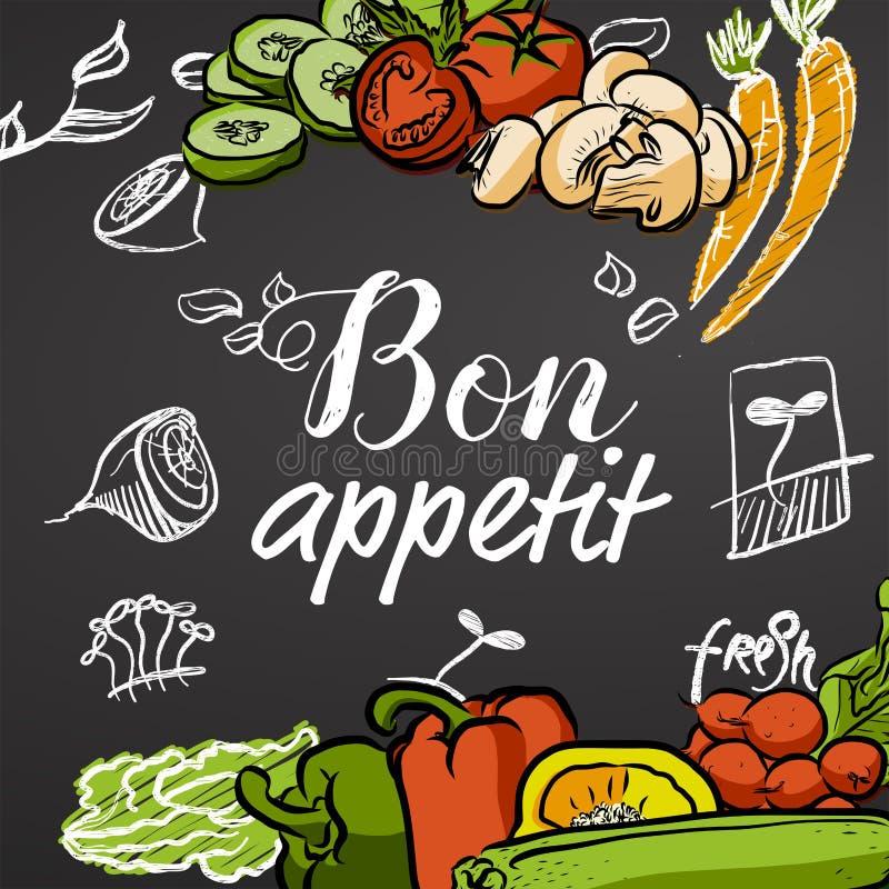 Bannière de tableau d'appetit de fève illustration stock