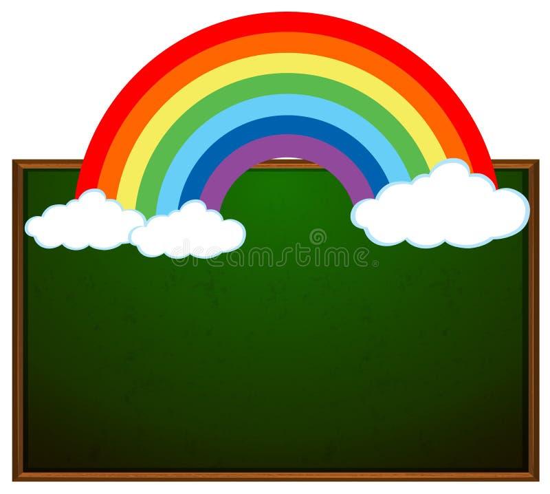 Bannière de tableau noir et d'arc-en-ciel illustration libre de droits