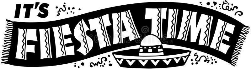 Bannière de temps de fiesta illustration libre de droits