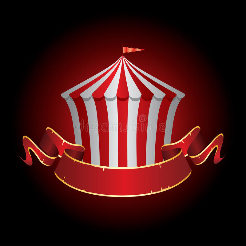 Bannière de tente de cirque illustration libre de droits