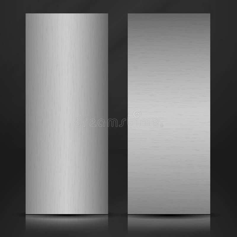 Bannière de texture en métal. illustration libre de droits