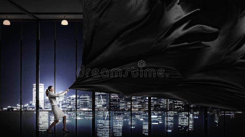 Download Bannière De Tissu De Traction De Femme D'affaires Photo stock - Image du déterminé, concept: 56481222